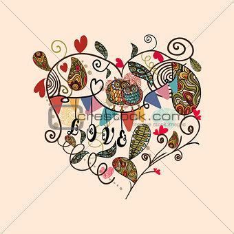 Valentine cute lovely heart card