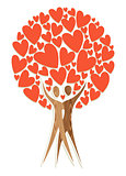 Couple tree of love