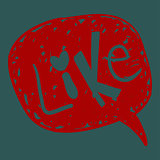 Like word in speech bubble
