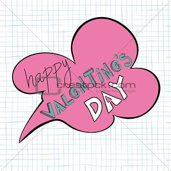 Happy Valentines day speech bubble