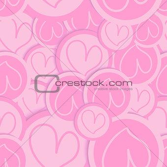 Valentine love heart pattern