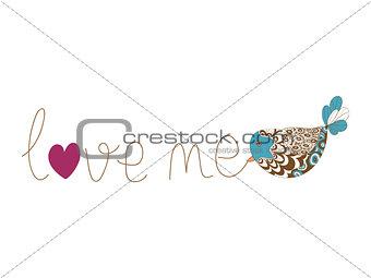 Valentine love me card
