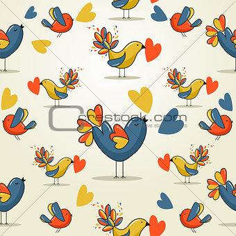 Love bird pattern