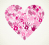 Hand love heart