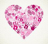 Hand love heart