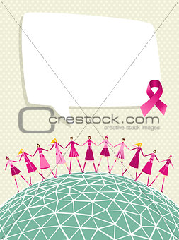 Globe breast cancer awareness