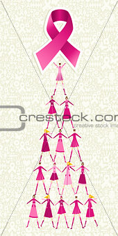Breast cancer day pine tree