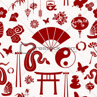 Chinese New Year of the Snake pattern