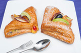 Danish pastry on a plate