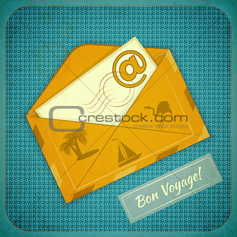 Travel Card with Yellow Envelope