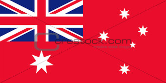 Flag of Australia red.