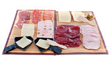 raclette cheese and meat