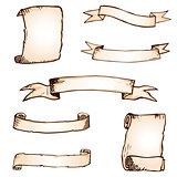 Hand drawn ribbons