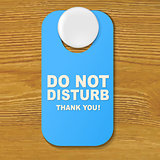 Do Not Disturb Blue Sign