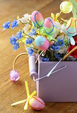 decorations for Easter  - flowers and eggs