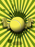 tennis ball on a green background