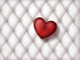 white leather with heart