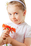 Pretty little girl with flower