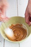 Making caramel cream