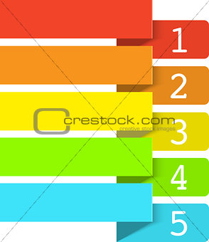 Abstract numbered color banners template 2