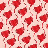 Heart Background vector illustration for Valentine, file contain transparency