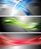 Shiny wavy vector banners