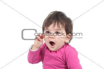 Beautiful baby yawning