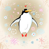 cheerful penguin lover