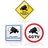 Video camera in use
