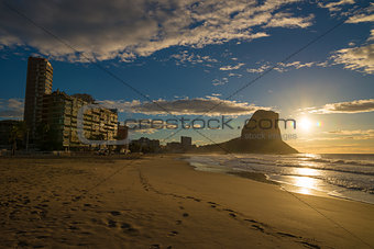 Sunrise on Calpe beach