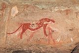 Bushmen rock painting