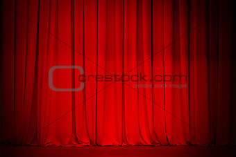 theatre red curtain