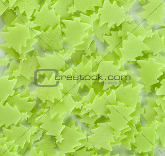 christmas trees pastry decoration background