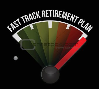 fast track retirement plan speedometer