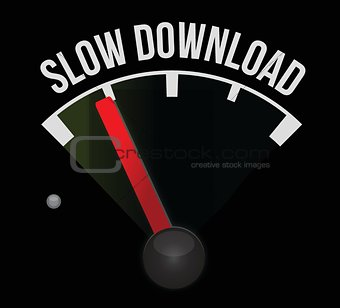 slow download speedometer