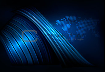 Business elegant abstract background with globe