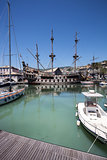 Spanish galleon replica in Genoa Old port