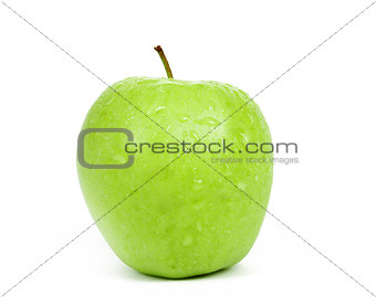 Single Green Apple isolated on a white background