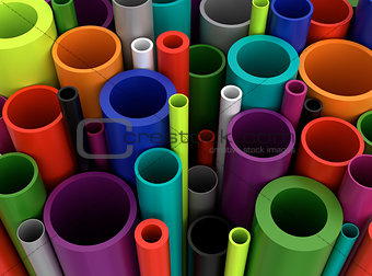 Colorful Plastic Pipes