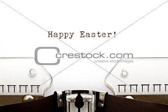 Typewriter Happy Easter