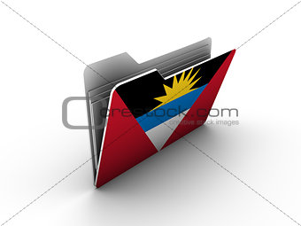 folder icon with flag of antigua and barbuda