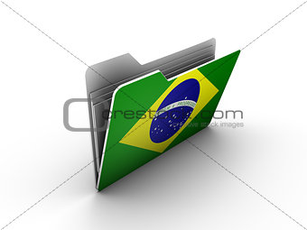 folder icon with flag of brazil