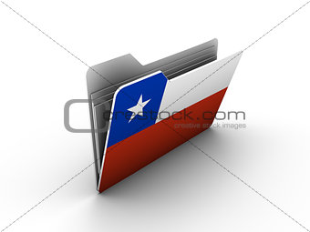 folder icon with flag of chile