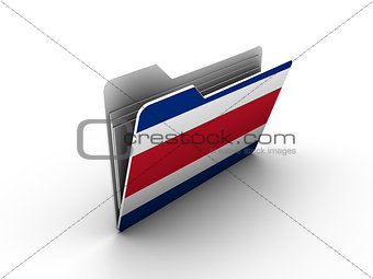 folder icon with flag of costa rica