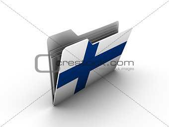 folder icon with flag of finland