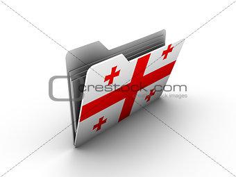 folder icon with flag of georgia