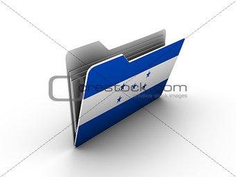 folder icon with flag of honduras