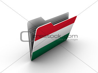 folder icon with flag of hungary