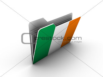 folder icon with flag of ireland