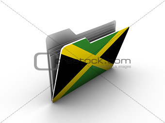 folder icon with flag of jamaica